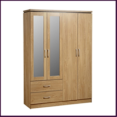 Charles Mirrored Wardrobe