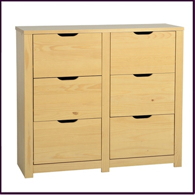 Eclipse 6 Drawer Chest Oak