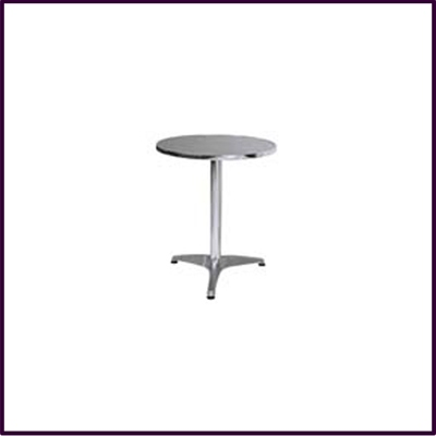 Bistro Round Aluminium Table