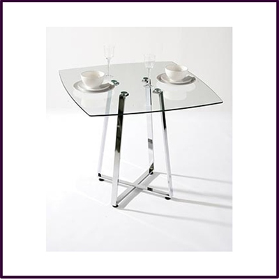 Metropolitan Square Glass Dining Table