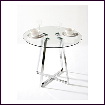 Metropolitan Round Glass Dining Table