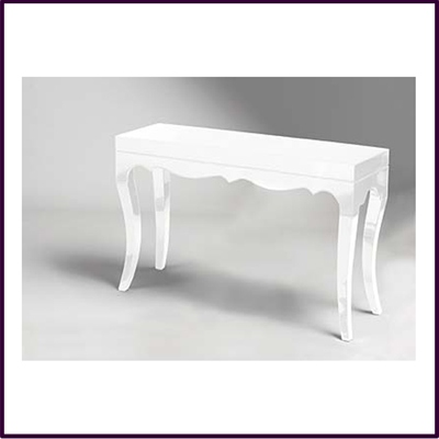 Roccoco White High Gloss Console Table