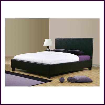 Natalia 4ft 6in Bed Frame Black Faux Leather