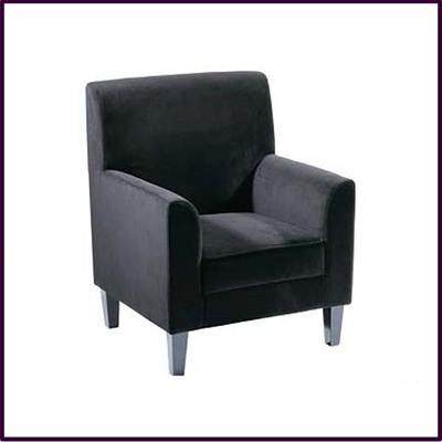 Medan Black Velvet Accent Chair