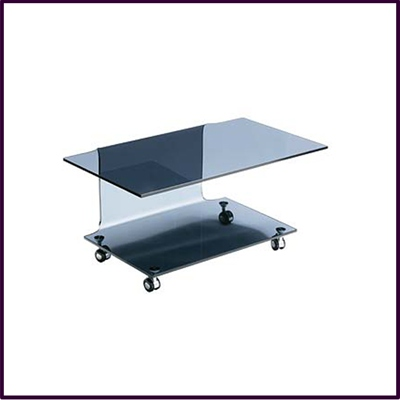 Cascade Grey Bent Glass TV Unit