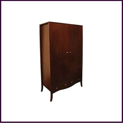 Victoria Double Wardrobe Solid Red Wood Veneer Fine