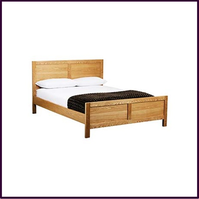 Eden Double Bed Frame Solid Oak With Veneer Finish