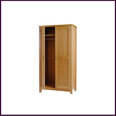 Eden Double Wardrobe Solid Oak With Veneer Finish
