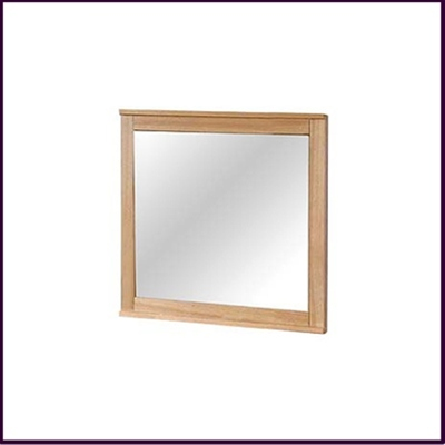 Eden Wall Mirror Solid Oak With Veneer Finish