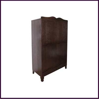 Norell Double Wardrobe Solid Red Wood Veneer Finish