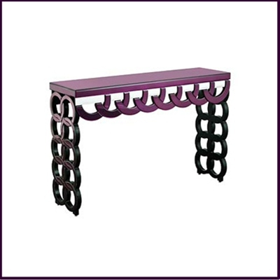 Purple Clear Console Table