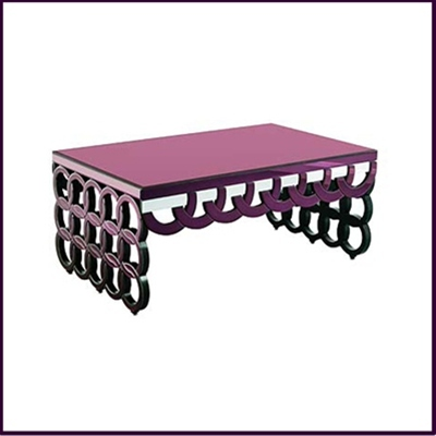 Purple Clear Coffee Table