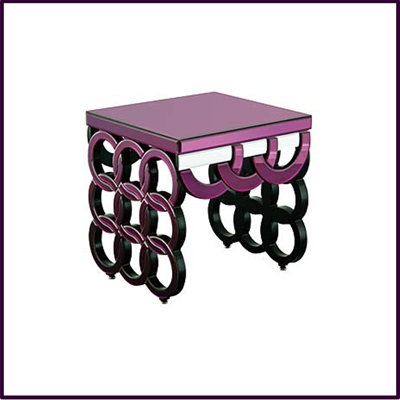 Purple Clear Side Table