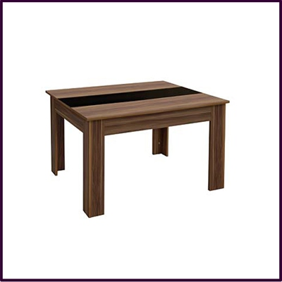 Fargo Dining Table 4 Seat Walnut Ven Black High Gloss