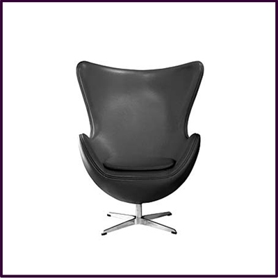 Black Leather Effect Jubilee Chair With Chrome Base