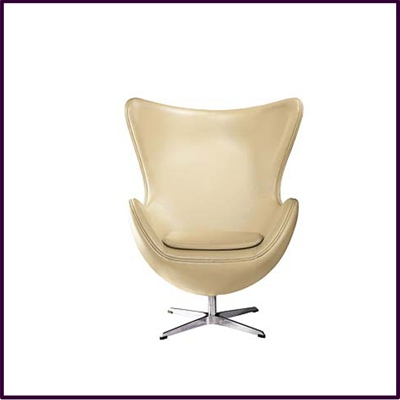 Caramel Leather Effect Jubilee Chair With Chrome Base
