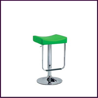Citrus Green Pvc Stool High Adjust With Chrome Base