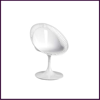 White Sendero Reverse Chair Abs