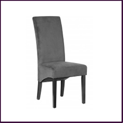 SOLD OUT Charcoal Grey Velvet Dining Chair