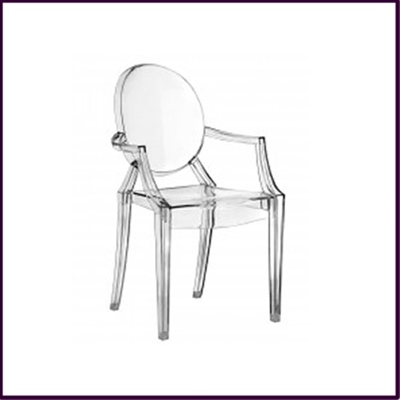 Clear Polycarbonate Louis Style Chair