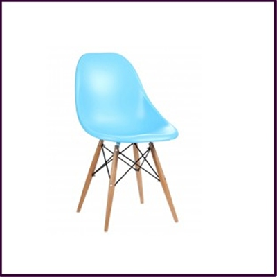 ABS Chair with Wooden Legs