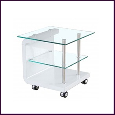 3 Tier TV Unit Clear Tempered Glass