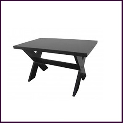 Criss Cross Dining Table Black High Gloss Finish