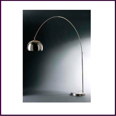 C Shaped Satin Effect Large Floor Lamp