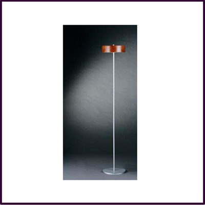 Stick Floor Lamp Bentwood & Glass