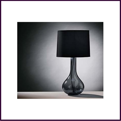 High Arlington Smoke Grey Glass Table Lamp