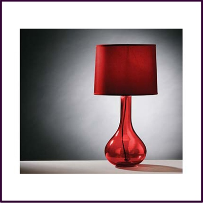 High Arlington Red Glass Table Lamp