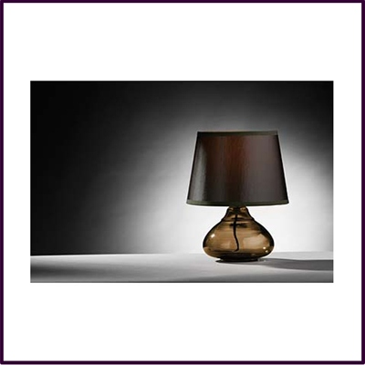 High Medan Smoke Amber Glass Table Lamp