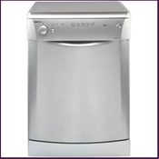 Beko silver dishwasher with triple A grade rating and 30 minute quick wash