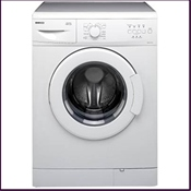 Beko 1000 spin AA+C rated washing machine with 30 minute quick wash cycle and wide opening door for easy loading/unloading.