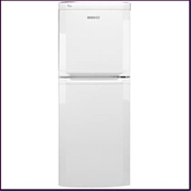 Beko TDA531W 7.7cu.ft gross capacity fridge freezer with an energy efficiency grade of 'A'.