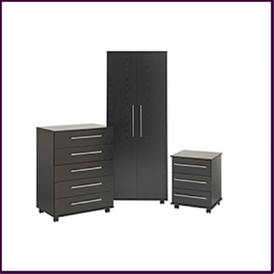Bobby Bedroom Collection - Wood Grain Black