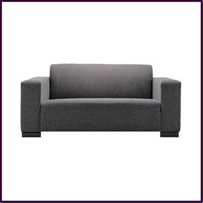 Stylish 'City' sofa in slate grey fabric