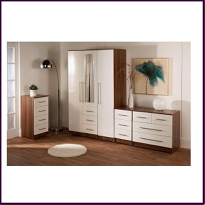 Gloss Bianco Chest of Drawers Collection