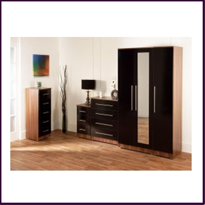 Gloss Nero Bedside Cabinet Collection