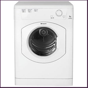 Hotpoint vented tumble dryer with 6kg drying capacity, reverse action drying and final cool cycle for reduced creasing and easier ironing and a wide opening door for easy loading/unloading.