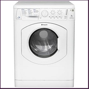 Hotpoint 1400 spin washer dryer with A graded wash performance and reverse tumble action for reduced creasing