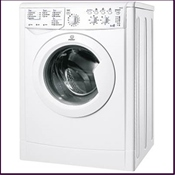 Indesit 1200rpm ABB rated washer dryer with 6kg wash/5kg dry capacity features sensor drying which automatically stops once washing is dry and 16 wash programmes including wool, silk and sport options.