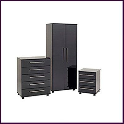 New York Bedroom Collection - Black Gloss