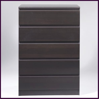Nia 5 drawer - wenge