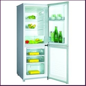 Proline TFP120A white 4.2 cu.ft gross capacity fridge freezer with grade A energy efficiency rating. Features automatic fridge defrost and reversible doors for added versatility.