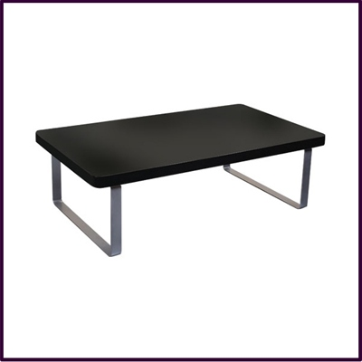 Black Gloss Coffee Table With Chrome Legs