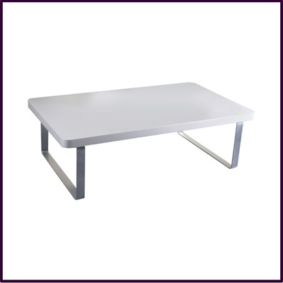 White Gloss Coffee Table With Chrome Legs