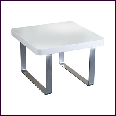 White High Gloss Side Table