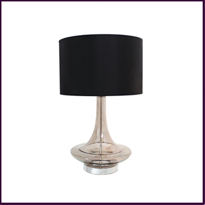 Smoke Black Glass Eclipse Table Lamp