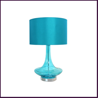 Blue Glass Eclipse Table Lamp